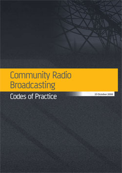 Community Radio Broadcasting Codes of Practice cover