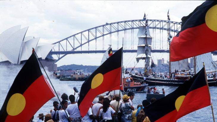 Bicentenary January 26th 1988 Aboriginal Protests at Sydney Harbour