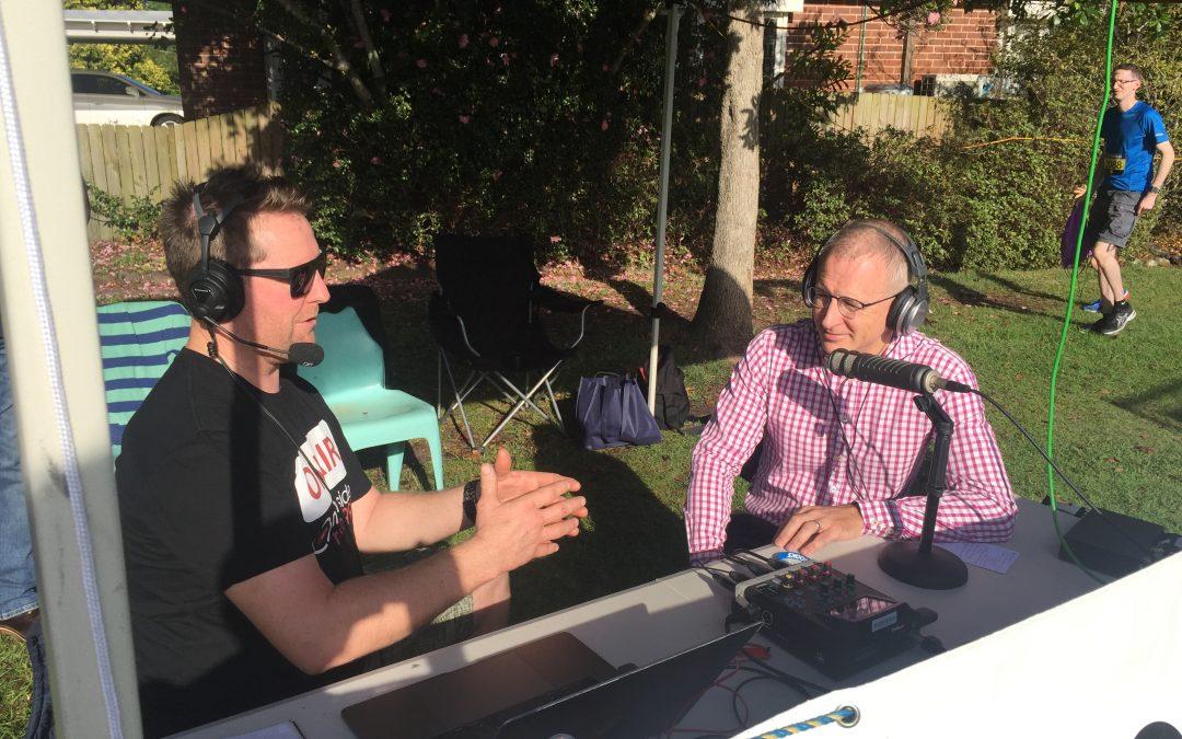 Minister Paul Fletcher broadcasting on Northside Radio