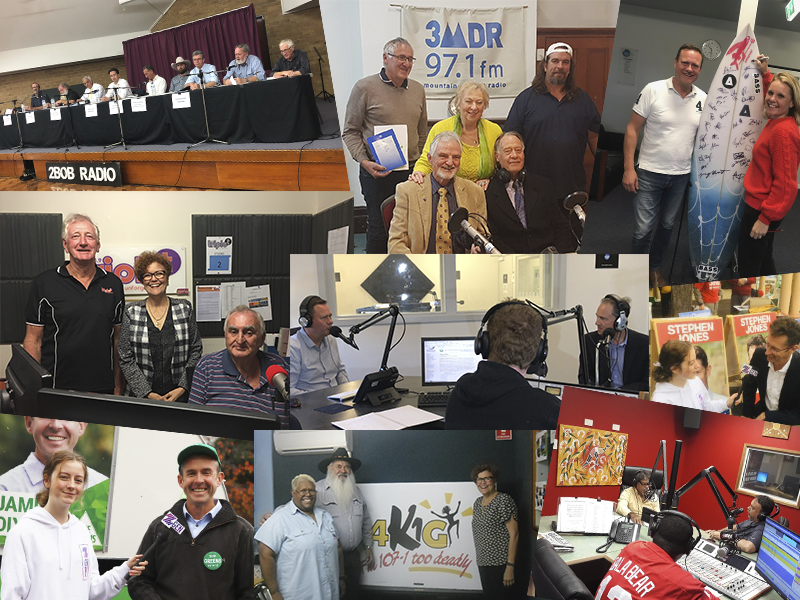 Federal Election Photo Collage of Stations