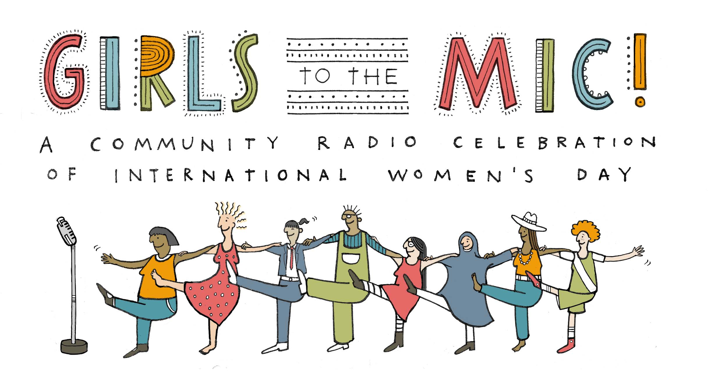 Girls To The Mic! Logo by Steph Hughes