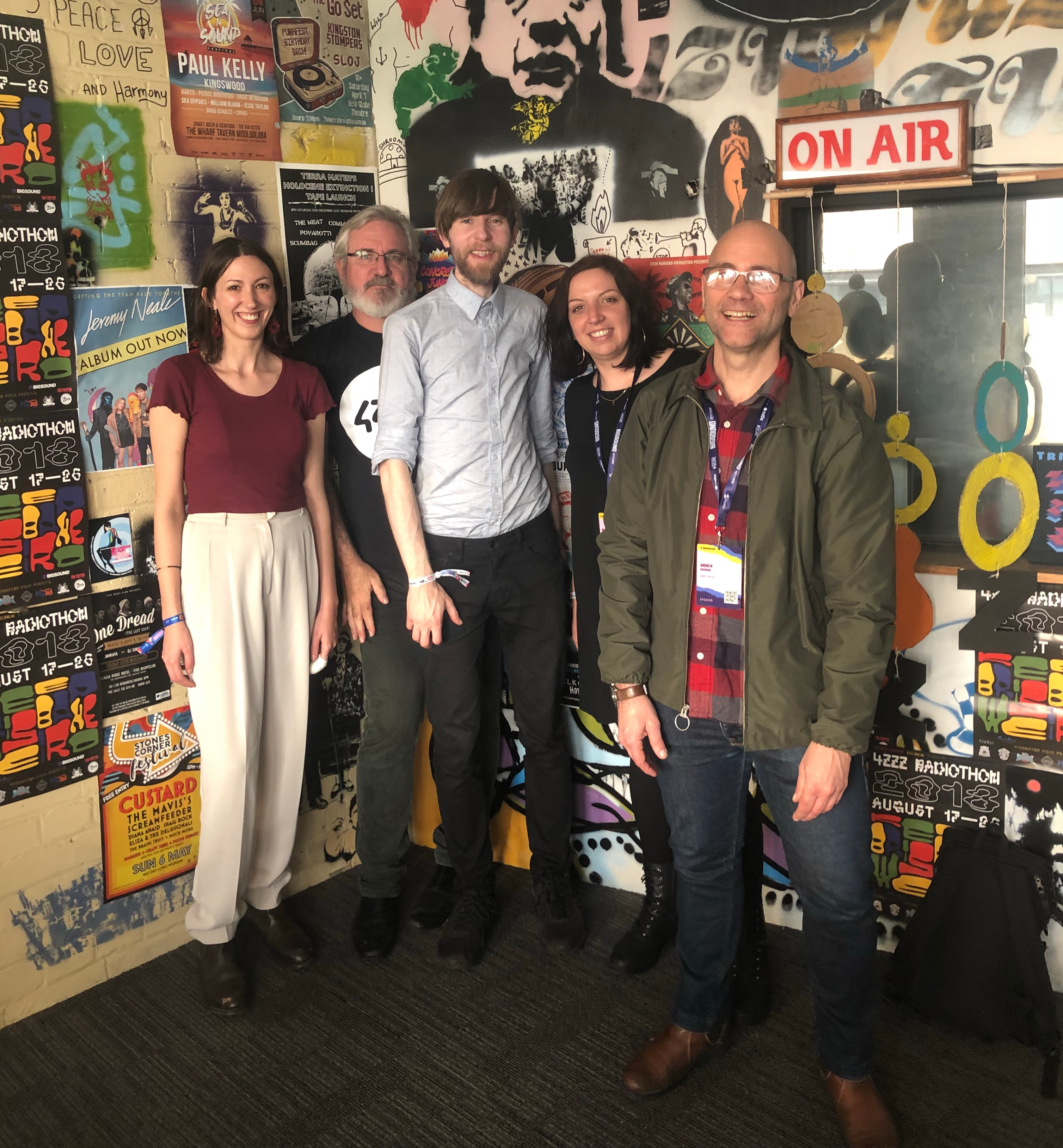 Visit to 4ZZZ