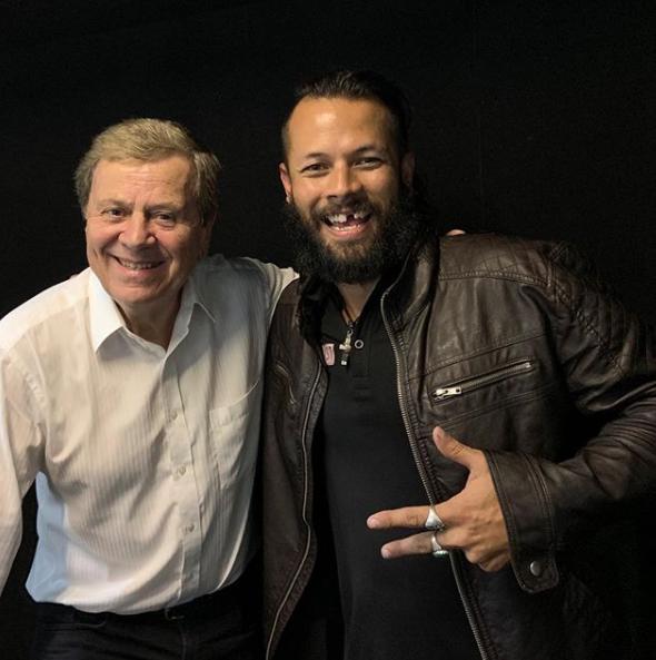 Jonzy with Media Legend, Ray Martin