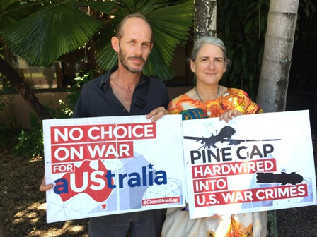pine gap community radio peace pilgrimage drone warfare