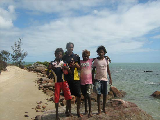 Group of kids on the beach