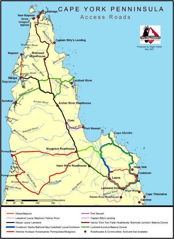 Map of Cape York Peninsula