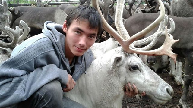 Man with Moose