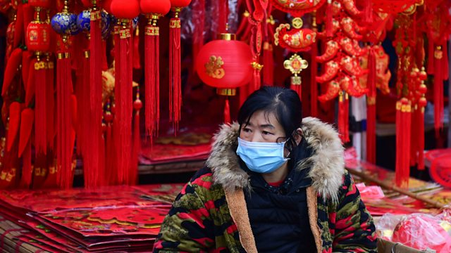 Chinese woman with face-mask