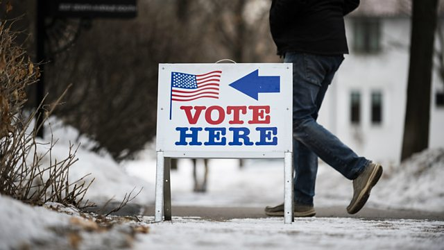 American voting sign