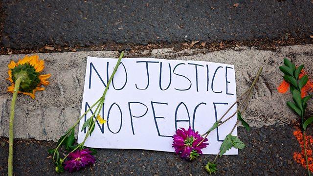 No Justice No Peace Protest Sign