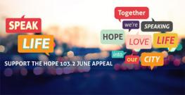Hope 103.2 June Appeal poster