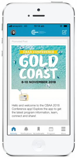 2018 CBAA Conference app