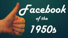 Facebook of the 50s Logo