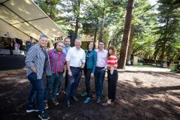 RTRFM Team with Anthony Albanese MP and Patrick Gorman MP at In The Pines