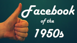 Facebook of the 50s Logo