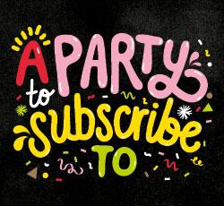 "3RRR Radiothon image ""A party to subscribe to"""