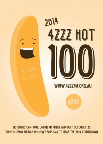 4ZZZ Annual Hot 100 Countdown Image