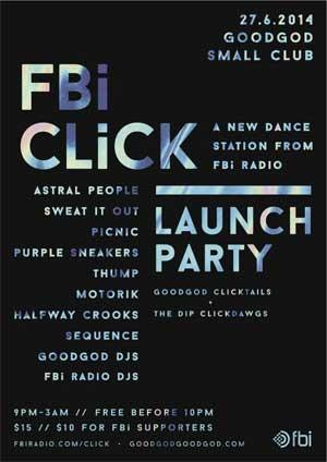 FBi CLiCK Launch Party Poster
