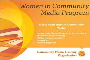 Women in Community Media poster