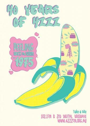 40 years of 4ZZZ poster