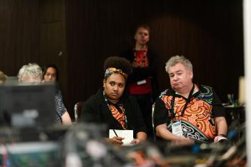 2 delegates sitting at 2019 CBAA Conference