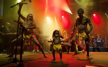 picture of Yothu Yindi with Little TJ