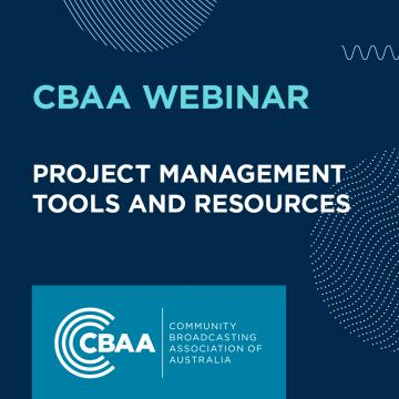 CBAA Webinar: Project Management - Tools and Resources