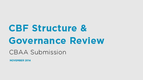 CBAA submission - CBF review
